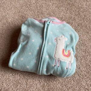 Absorba Polka Dot Zippered and Footed Pajama 4T